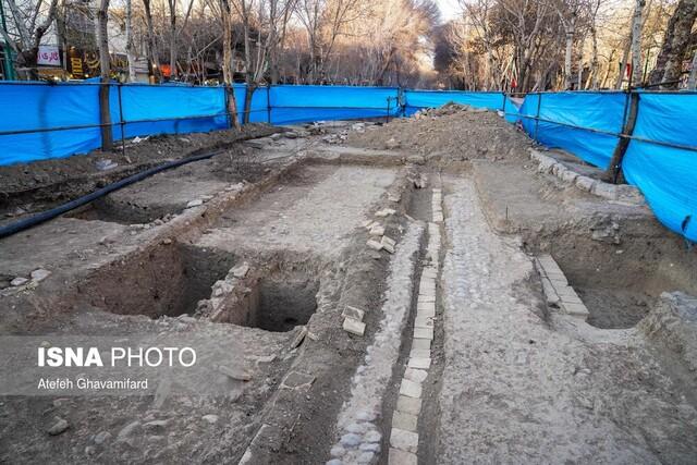 بقایای کشف شده در چهارباغ در ویترین نگهداری و در معرض نمایش عموم قرار می گیرد/ کشف یک آبراه در چهارباغ عباسی