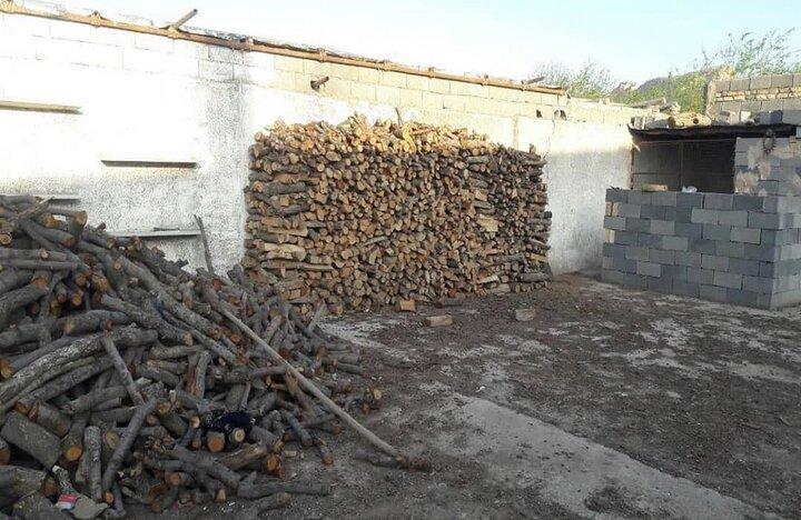 """کشف انبار چوب بلوط قاچاق در """" سمیرم """""""